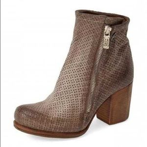 AS98 Anthro 38 Sicily basket weave leather boots